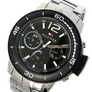 トミーヒルフィガーTOMMYHILFIGERクオーツメンズ腕時計1791317ブラック【送料無料】【_包装】