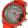 ディーゼル DIESEL ストロングホールド クオーツ クロノ メンズ 腕時計 DZ4384 ガンメタ/レッド【送料無料】【楽ギフ_包装】
