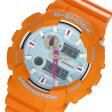 カシオ CASIO Gショック G-SHOCK Gライド In4mation コラボ メンズ 腕時計 GAX-100X-4A ブルー/オレンジ【送料無料】【楽ギフ_包装】