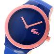 ラコステ LACOSTE クオーツ ユニセックス 腕時計 時計 2020120 ネイビー/ピンク【楽ギフ_包装】