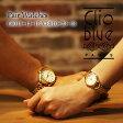 【ペアウォッチ】クリオブルー Clio Blue クオーツ 長針と短針が重なると可愛い 魚ロゴ 腕時計 CB010-13-1B/CB010-23-1B ホワイト【送料無料】【楽ギフ_包装】
