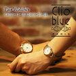 【ペアウォッチ】クリオブルー Clio Blue クオーツ 長針と短針が重なると可愛い 魚ロゴ 腕時計 CB010-15-1B/CB010-25-1B ホワイト【送料無料】【楽ギフ_包装】