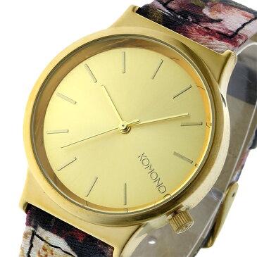 コモノ KOMONO Wizard Print-Flemish Baroque クオーツ レディース 腕時計 時計 KOM-W1829 ゴールド【S1】