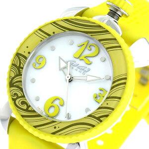 GaGaMILANO女士运动石英女士手表7020.08白色/黄色[免费送货]
