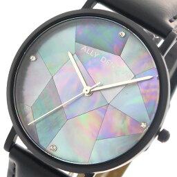 アリーデノヴォ ALLY DENOVO 腕時計 レディース 36mm AF5003-5 GAIA PEARL クォーツ ネイビーシェル ブラック【送料無料】