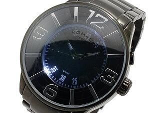 ロマゴROMAGOヌメレーションNUMERATIONクオーツメンズ腕時計RM007-0053SS-BK【送料無料】【_包装】