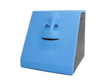 フェイスバンク FACE BANK 貯金箱 ブルー