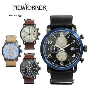 ニューヨーカーオーバーステージクロノメンズクオーツ腕時計NY007.00N【送料無料】【_包装】