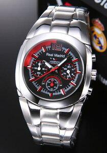 バーセロイ腕時計レアルマドリード公式ウオッチメンズクロノグラフSSブレスクォーツ43821-55