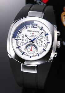 バーセロイ腕時計レアルマドリード公式ウオッチメンズクロノグラフSSラバークォーツ43823-05