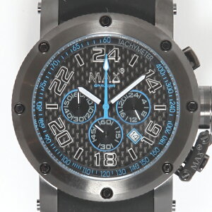 MAXマックス腕時計MAX53247mmBigFaceブラックブラッククロノグラフウォッチ国内正規商品【送料無料】