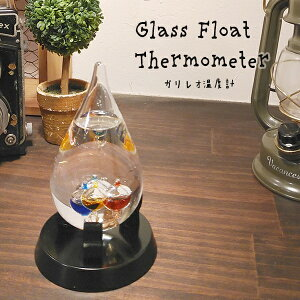 ガリレオ温度計 しずく型 GAW11002S サイエンス ガリレオ ガラスフロート温度計 インテリア 科学 温度計 おしゃれ かわいい【送料無料】