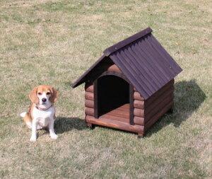 アイリスオーヤマログ犬舎LGK-600犬舎ダークブラウンLGK-600(き)【RCP】