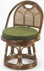 東京ラタン 天然籐 回転チェア ミドルタイプ チェア 高座椅子 籐 椅子 チェア(代引不可)【送料無料】【smtb-f】