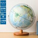 地球儀 レイメイ藤井 全回転フレーム 球径30cm 土地被覆タイプ 地球儀スケー