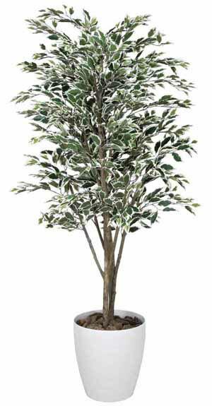 アートグリーン 人工観葉植物 光触媒 光の楽園 ベンジャミンツリー斑入り1.8(代引き不可)【S1】:リコメン堂インテリア館