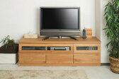 天然木テレビボード 150.5cm幅 ナチュラル色【送料無料】【日本製】【完成品】