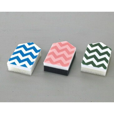 VARI キッチンスポンジ3色セット シェブロン(代引不可)