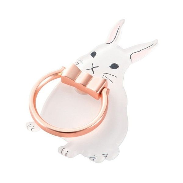 エレコム スマートフォン用ストラップ フィンガーリング アニマル ウサギ P-STRAMRAB(代引不可)