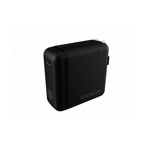 GOPPA エネギア 46W USB PD認証 Type-C ACアダプター 1.8mケーブルセット ブラック E00460A1CBLKUS(代引不可)
