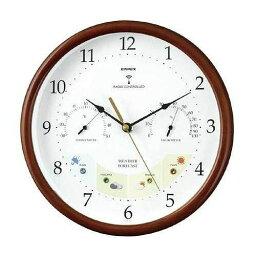 EMPEX (エンペックス) 掛け時計 ウェザーパル 電波時計1台4役 BW-873 木枠【送料無料】【smtb-f】