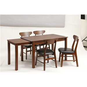 伸長式ダイニングテーブル/エクステンションテーブル【幅120~200cm】木製インナーキャスター仕様『シオン』