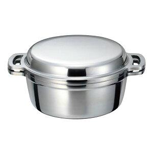 ムスイ 無水鍋 20cm 本体2.4L ふた1.0L