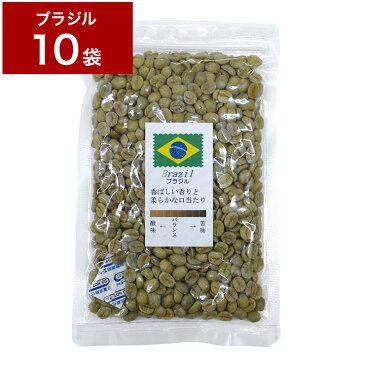 1.2kg 生豆 ブラジル 120g×10袋 【10袋セット】 珈琲 コーヒー豆 未焙煎【送料無料】
