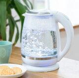 ガラスケトル 2.0L 電子ケトル KDKE-20AW 湯沸かし器 電気ポッド コードレス やかん ワンタッチ ガラス製 大容量【送料無料】