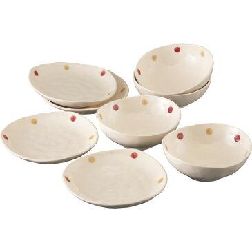 ドットマロン ボウル プレート4客セット 洋陶器 洋陶鉢 サラダセット 587199(代引不可)