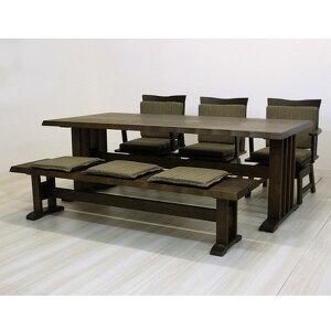 ダイニングテーブル5点セットダイニングセット4人掛け伊吹ダイニング5点セット(190幅/6人掛け用)()【送料無料】