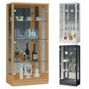 キュート60 コレクションケース幅60 高さ128 完成品 リビングボード コレクションボード 飾り棚 ガラス...