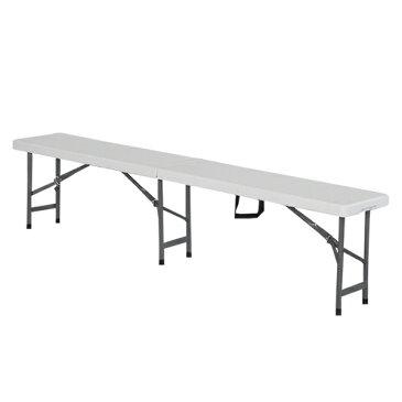 折り畳み式アウトドアチェア アウトドアチェア ガーデンチェア 折り畳み式 ベンチ 長椅子 頑丈 大型 183×30×44cm(代引不可)【送料無料】