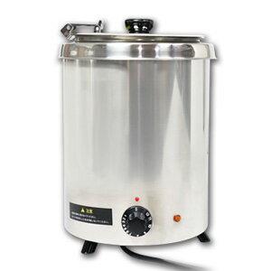 湯煎式スープジャー5L ダイヤル式 スープウォーマー 保温ジャー ポット ビュッフェ バイキング スープ(代引不可)【送料無料】