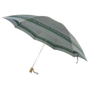 日本の職人手作り千鳥格子二段式折りたたみ傘緑(グリーン)CMC102B(き)【送料無料】