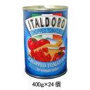 D34053 富士貿易 イタルドーロ ダイストマト缶 400g 24入【RCP】