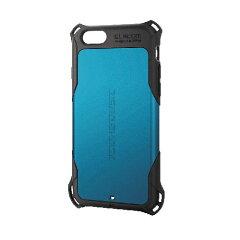 エレコム iPhone 6用ZEROSHOCKケース PM-A14ZEROBU 全方向からの衝撃を吸収するZEROSHOCKモデル 4つの衝撃吸収構造でiPhoneを衝撃から守る(代引き不可)【RCP】