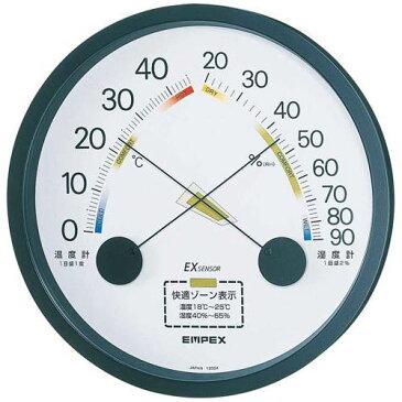 EMPEX 温度・湿度計 エスパス 温度・湿度計 壁掛用 TM-2332 ブラック