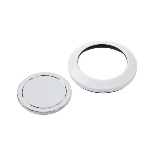 エツミ メタルインナーフード+キャップセット49mm(ホワイト) E-6474