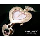 ANNE CLARK 1P天然ダイヤ ハート型フェイス ムービングカラーストーン AU1031-17PG【送料無料】