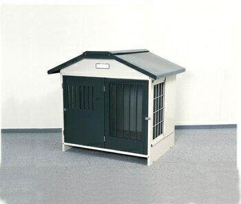 アイリスオーヤマ スチール切妻犬舎 SLH-12 犬舎 グレーSLH-12(代引き不可):リコメン堂生活館
