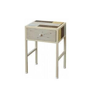 サイドテーブル天然木北欧木製テーブルナイトテーブルベッドテーブルソファーテーブルアイアンおしゃれアンティーク()【送料無料】【smtb-f】