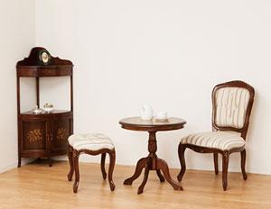 マルシェチェアー肘なしブラウンアンティーク椅子チェア(き)【送料無料】【smtb-F】