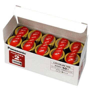 パナソニック アルカリ乾電池 単2 10本入 1 箱 LR14XJN/10S 文房具 オフィス 用品