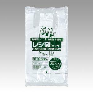 ジャパックス レジ袋(無着色半透明)省資源タイプ 1 冊 RF30 文房具 オフィス 用品