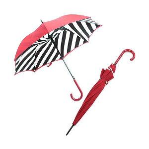 Fulton(フルトン)L723023884Bloomsbury-2DiagonalStripe「LuluGuinness」ルルギネスコラボモデルワンタッチジャンプ傘自動開き長傘2重構造ブルームズバリーアンブレラ【】