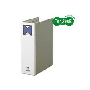 (まとめ)TANOSEEパイプ式ファイル片開きA4タテ80mmとじグレー30冊