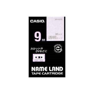 (業務用50セット)カシオCASIO透明テープXR-9XS透明に銀文字9mm×50セット