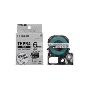 (業務用50セット)キングジムテプラPROテープマット透明/黒文字SB6T×50セット