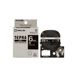 (業務用50セット)キングジムテプラPROテープSD6K黒に白文字6mm×50セット